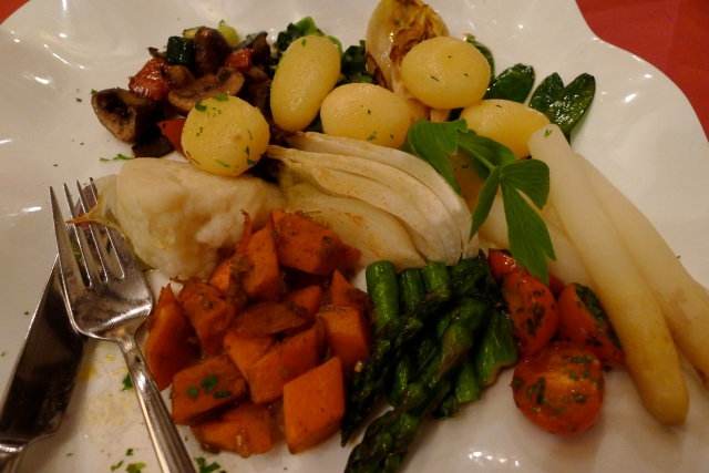 Well prepared, seasonal vegetables, even at a place with nothing vegan on the menu. It never hurts to ask!